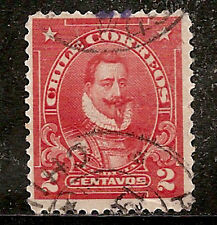 Chile Stamp - Scott #128/A33 2c Red Canc/LH 1915-1925