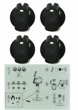 UK-40B4 40mm Black Universal Knob Kit Stove Cooktop PACK OF 4 KNOBS