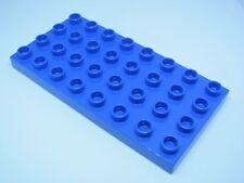 LEGO DUPLO @@ PLAQUE 4672 @@ PLATE 4 X 8 TENONS @@ BLEU BLUE