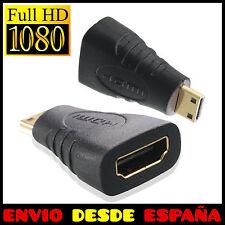 Conversor Mini HDMI Macho Tipo C a HDMI Hembra Adaptador Tipo A Conector HD TV