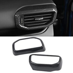 Carbon Fiber Accessories Side Air Vent Outlet Cover Trim for Ford Explorer 20-21