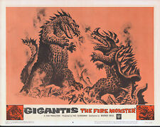 GODZILLA RAIDS AGAIN/GIGANTIS THE FIRE MONSTER orig 1959 lobby card poster #8