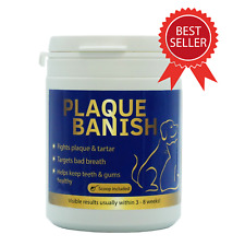 More details for plaque banish 180g plaque off for dogs teeth clears plaque, tartar & bad breath