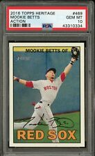 2016 Mookie Betts Topps Heritage Action PSA 10 #469 SP