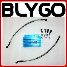 BLUE CNC Engine Oil Cooler Kit Radiator 125cc 140 150cc PIT PRO Trail Dirt Bike