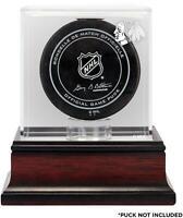 Chicago Blackhawks Mahogany Hockey Puck Logo Display Case