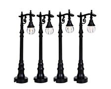 New Lemax Miniatures-Antique Street Lamps- Set of 4 - Fairy Garden /Mini gardens