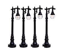 New Lemax Miniatures-Antique Street Lamps- Set of 4 - Fairy Garden /Mini gardens