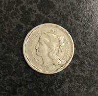 1865 Nickel Three-Cent Piece VF  C-1688