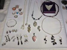 sterling silver  jewellery Lot Rings  earrings Pendants bracele Necklace