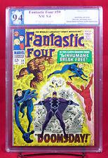 FANTASTIC FOUR #59 (Marvel 1967) PGX 9.4 NM Near Mint DOOMSDAY INHUMANS +CGC!!!