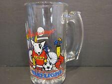 "1988 Vintage SPUDS MACKENZIE Bud Light USA Sports Olympics BEER GLASS STEIN-5.5"""