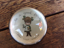"Vintage 1970's Joan Walsh Anglund ""To a Good Friend"" Glass Paperweight"
