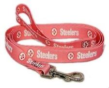 Pittsburgh Steelers Pink Dog Leash Medium 3/4 wide Pink