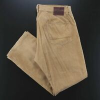 RALPH LAUREN  Brown Corduroy Relaxed Straight Pants Mens W36 L32