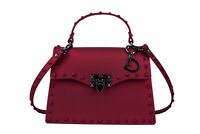 Red Medium Handbags for Women with Studs Trendy Fashion Summer 2020 Jelly Bags