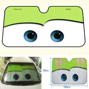 Car Eyes Windscreen Sun Shade Cover Anti-UV Aluminium Foil Heat Blocking Green