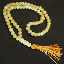 White Baltic Amber 33 islamic prayer beads Misbaha Tasbih