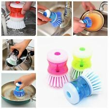 Kitchen Dish Washing Cleaning Up Brush Brushes Easy Scrubbing Liquid Detergentt