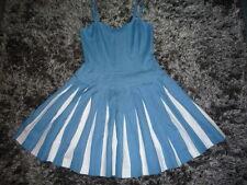 Robe bain de soleil BODEN bleue et blanche 8P = 36 - Blue & white sun dress