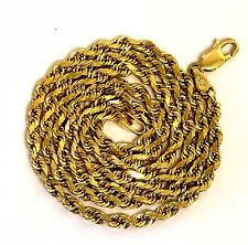 """14k yellow gold 13.7g rope necklace chain estate vintage antique 18""""  2.56mm"""