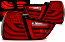 Coppia Fari Fanali Tuning Posteriori BMW E90 2009 > 2011 RED LED BAR Fibra LTI