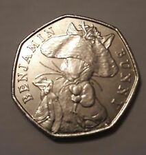 Benjamin Bunny 50p coin 2017 circulated condition Beatrix Potter collection
