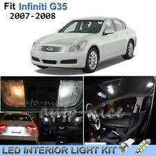 For 2007-2008 Infiniti G35 Luxury White Interior LED Lights Kit 10 Pieces