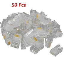 50 Pz RJ45 CAT5 cristallo Network connettore Modular Spina 8P8C HKIT