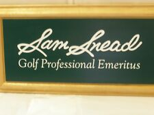 Sam Snead Golf Professional Emeritus Greenbrier White Sulphur Springs WV Plaque