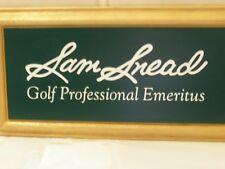 Sam Snead Golf Professional Emeritus Greenbrier White Sulphur Springs WV Plaque
