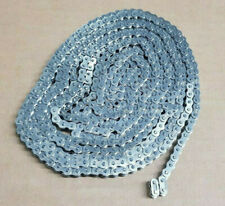 """#25 stainless steel 1/4"""" pitch Roller Chain with 2 master links (10 Ft long)"""