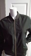 NEW EXPRESS ARMY GREEN BASEBALL JACKET SIZE XS