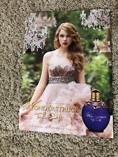 Official Taylor Swift Wonderstruck Magazine Ad - Rare