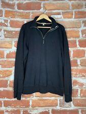 $395 BURBERRY S Classic Nova Check Banker Executive Brit UK Logo 1/4 Zip Sweater