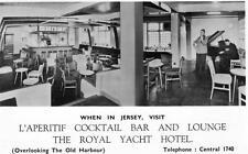 Royal Yacht Hotel Cocktail Bar  St Helier unused RP old pc Senett & Winersh