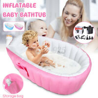 Inflatable Baby Tub Travel Bath Bathtub Shower Newborn Swimming Pool +Air pump