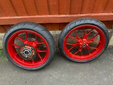 Aprilia RS125 2005-2010 Wheels Very Good Condition CANDY RED - RS 125 Front Rear