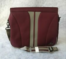 Skyway Luggage Computer Tote Bag Messenger Purple Gray Padded Shoulder Strap