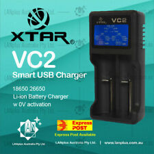 Xtar VC2 Smart USB  LCD 18650 Lithium Battery Charger for Li-ion 26650 RCR123A