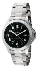 Peugeot Mens 24 Hour Army Military Stainless Steel Bracelet Watch 1017M