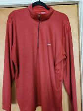 Men's Patagonia Redish blue 1/2 Half Zip Long Sleeve Pullover Shirt Top size Xl