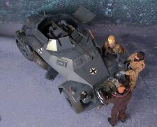 "1/6 Scale 12"" Figure GREY Sd Kfz 222  Rad Armored Car"