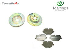 range rover evoque rear brake discs + pads evoque drilled + grooved brakes 12-16