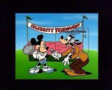 Dominica - 1989 - Disney - Hollywood - Mickey & Goofy - Mint - Mnh S/Sheet!