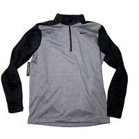 Nike Dri-Fit Essential Thermal Half-Zip Pullover Jacket Fleece Gray Medium NWT