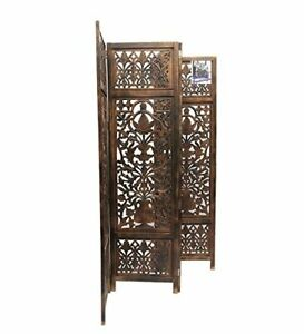 Wooden Partition Screen Mix Design Mdf And Mango Wood Folding Room Divider