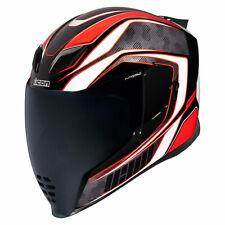 Icon Airflite RaceFlite Red Full Face Motorcycle Motorbike Helmet