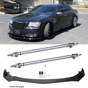 For Chrysler 300 SRT8 C S Car Front Bumper Lip Chin Spoiler Splitter+ Strut Rods