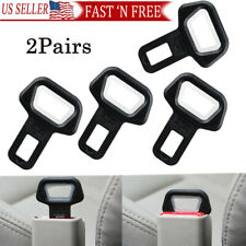 4Pcs Vehicle Car Safety Seat Belt Buckles Clip Alarm Stopper Clamp Universal